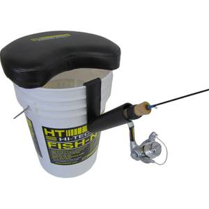 Hi tech fishing bucket master rod holder at blain 39 s farm for Ice fishing bucket