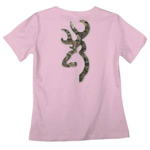 Browning Misses Light Pink Buckmark Infinity T-Shirt