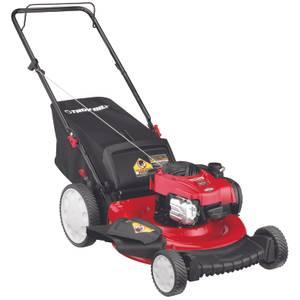 ed8f4e05332 Troy-Bilt 140cc 3 - in - 1 High Wheel Gas Push Lawn Mower