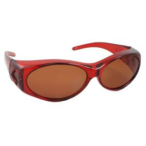 Cliff Weil Women's Red & Amber Overalls Sunglasses