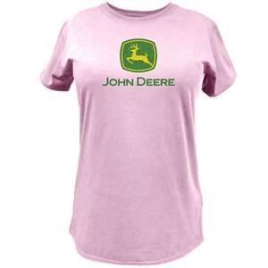 John Deere Misses Pink Glitter Logo T-Shirt