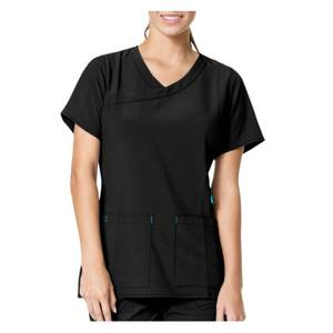 Carhartt Misses Black CrossFlex Y Fashion Scrubs Top