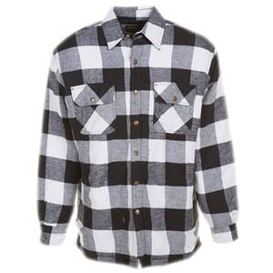 Work n 39 sport big tall men 39 s white black buffalo quilt for Big and tall lined flannel shirts