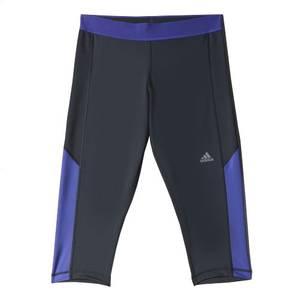 Adidas Misses Phantom Black & Purple TechFit Capri Tights