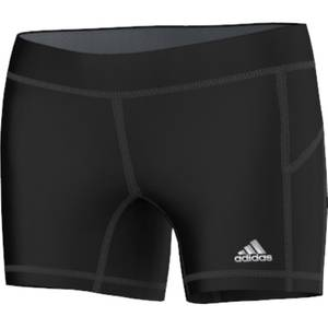 "Adidas Misses Black Techfit 5"" Boy Shorts"