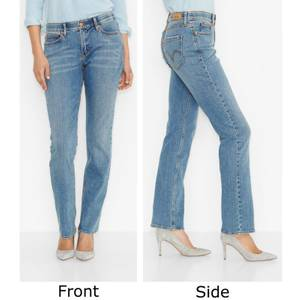 Levi's Misses Sky Blue 525 Perfect Waist Straight Leg Jeans