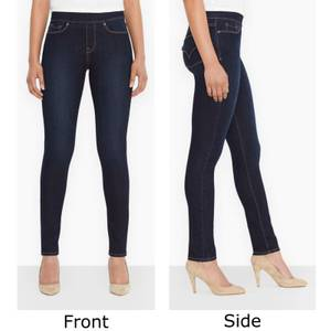Levi's Misses Dark Wash Blue Odyssey Pull-On Jean Jeggings