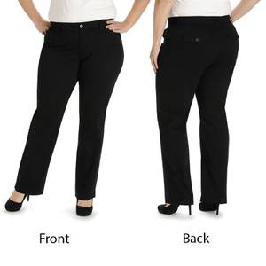Lee Women's Black Comfort Fit Kassidy Straight Leg Pants