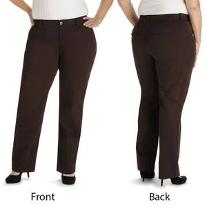 Lee Women's Coffee Comfort Fit Kassidy Straight Leg Pants