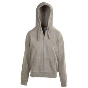 CG | CG Misses Heather Gray Unlined Fleece Full Zip Hoodie