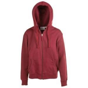 CG   CG Women's Burgundy Unlined Fleece Full Zip Hoodie