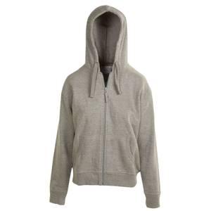 CG | CG Women's Heather Gray Unlined Fleece Full Zip Hoodie