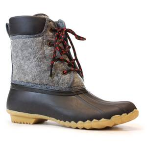 western chief s charcoal quilted four eye duck boots