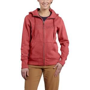 Carhartt Misses Rose Heather Clarksburg Zip-Front Sweatshirt