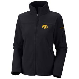 Columbia Sportswear Company Misses Black Give and Go Iowa Hawkeyes Zip Up Fleece Jacket