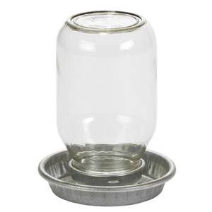 LITTLE GIANT MASON JAR BASE Combines w//1Qt Jar to Make Gravity-Feed Waterer GRN