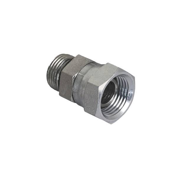6805-08-08 Hydraulic Adapter 1//2 Male BOSS Swivel X 1//2 Female Pipe 90 Degree Carbon Steel