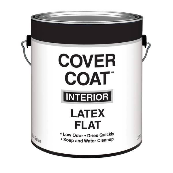 cover coat 1 gallon interior latex flat wall and ceiling paint. Black Bedroom Furniture Sets. Home Design Ideas