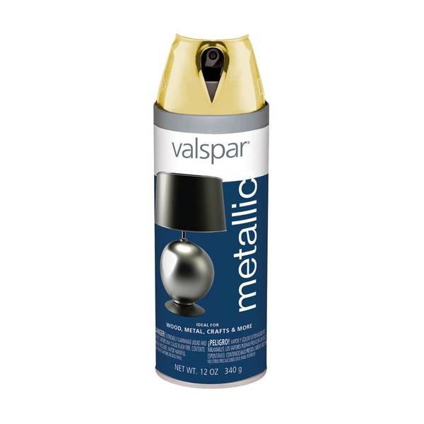 Valspar brilliant metallic gold spray paint for Valspar paint walmart