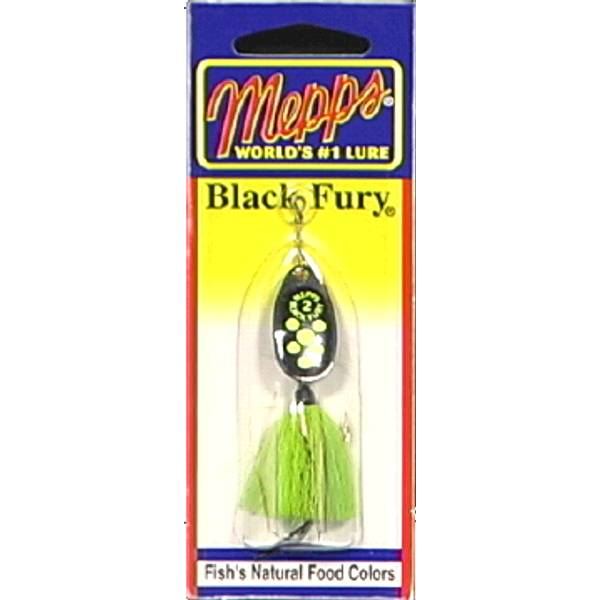 Mepps black fury chartreuse fish lure for Chartreuse fishing lure