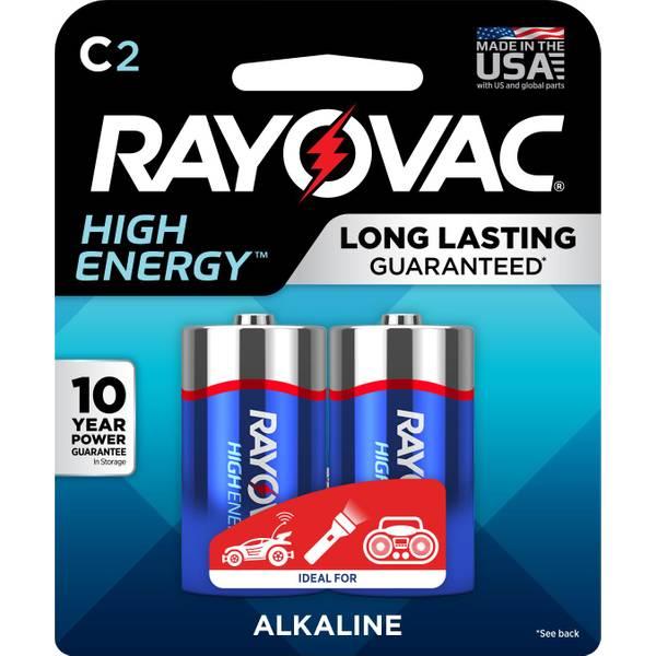 C Alkaline Batteries 2-Pack