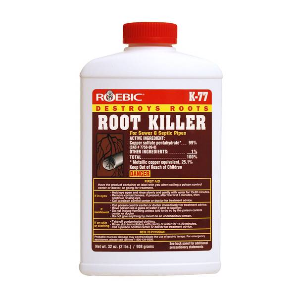 Root Killer For Sewer Pipes & Septic Systems