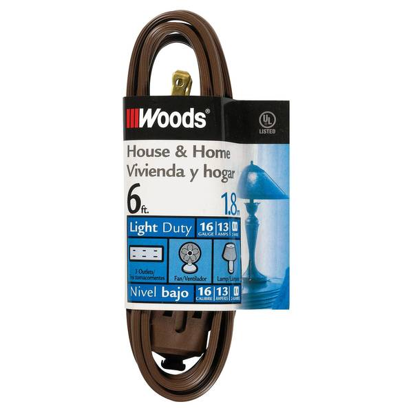 Brown Cube Tap Household Extension Cord