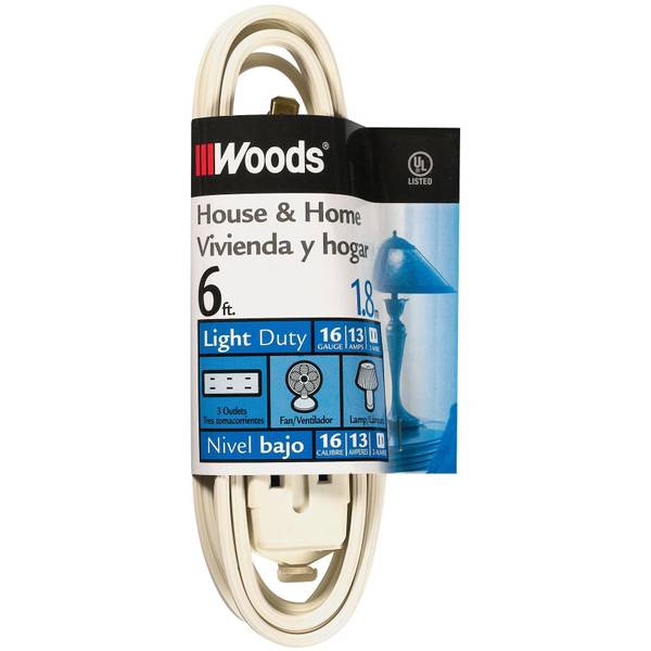 White Cube Tap Household Extension Cord
