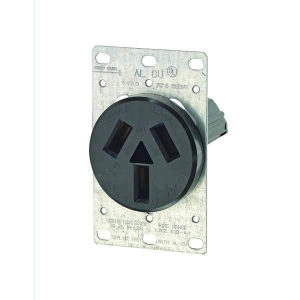 3 Pole 3 Wire Flush Mount Receptacle