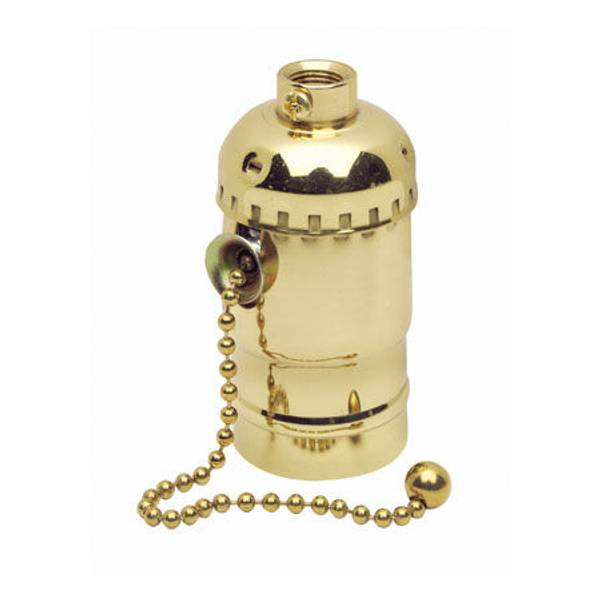Metal Shell Lampholder with Pull Chain