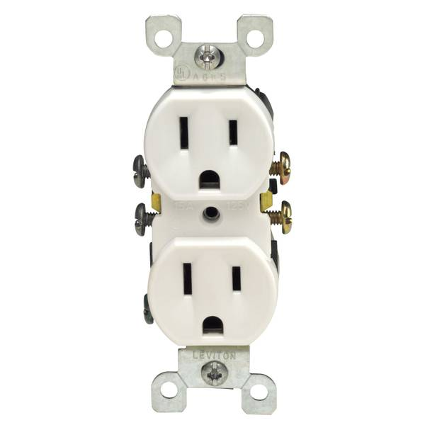Quickwire Push - In and Side Wired Grounding Straight Blade Receptacle