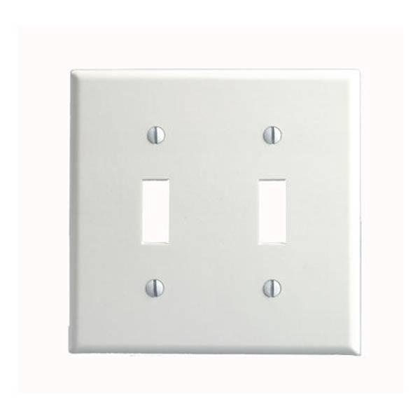 2 Gang 2 Toggle Standard Size Toggle Switch Wallplate