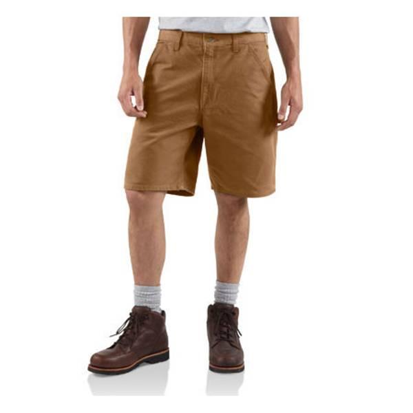 Big Men's Brown Washed Duck Work Shorts Carhartt brown