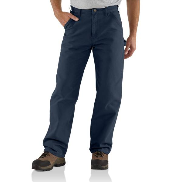 Big Men's Washed Duck Work Petrol Blue Dungarees