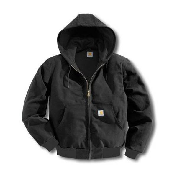 Big & Tall Men's Black Thermal Lined Duck Active Jacket