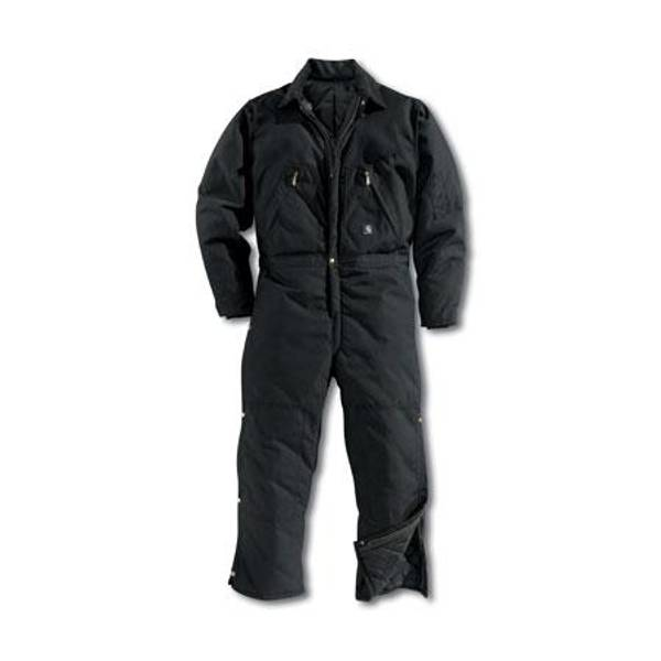 Tall Men's Black Extremes Arctic Quilt-Lined Coveralls