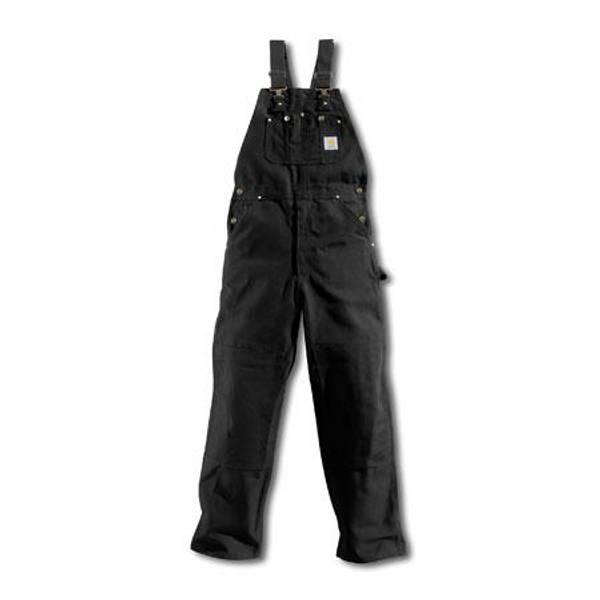 Men's Black Duck Bib Overalls