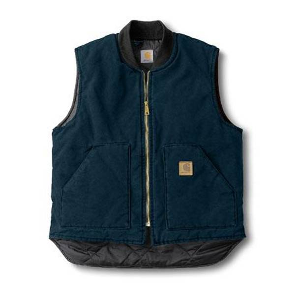 Tall Men's Midnight Sandstone Arctic-Quilt Lined Vest midnight