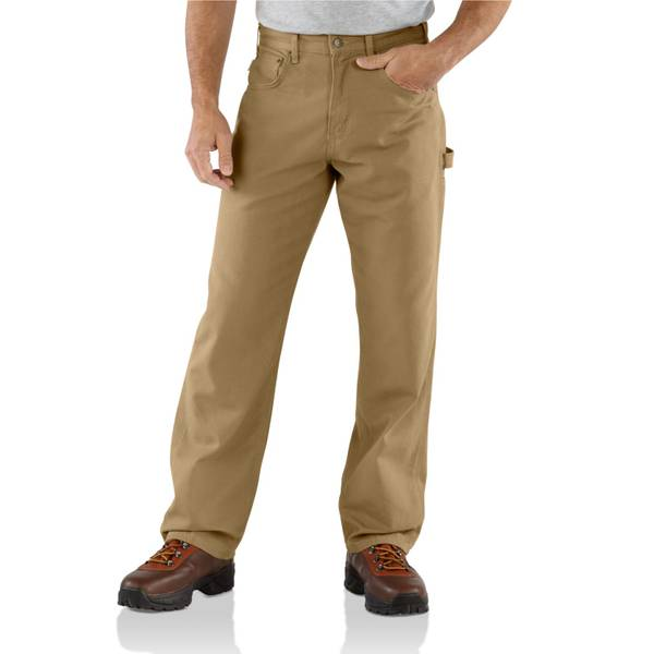 Big Men's Golden Khaki Loose - Fit Canvas Carpenter Jeans