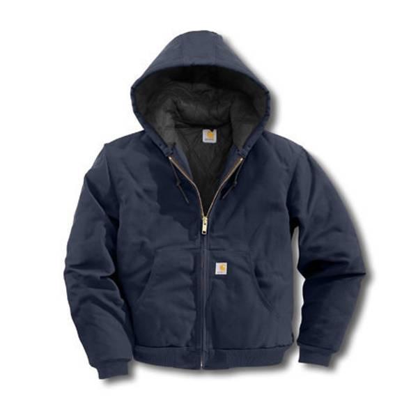 2c250171e Carhartt Big Men s Dark Navy Quilted-Flannel Duck Active Jacket