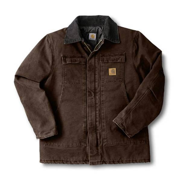 Big Men's Dark Brown Arctic Quilt-Lined Sandstone Traditional Coat dark brown
