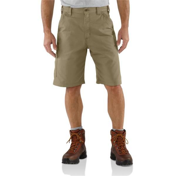 Men's Dark Khaki Canvas Work Shorts