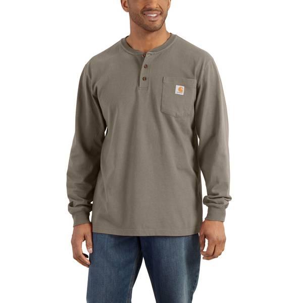 Men's Desert Long Sleeve Workwear Henley