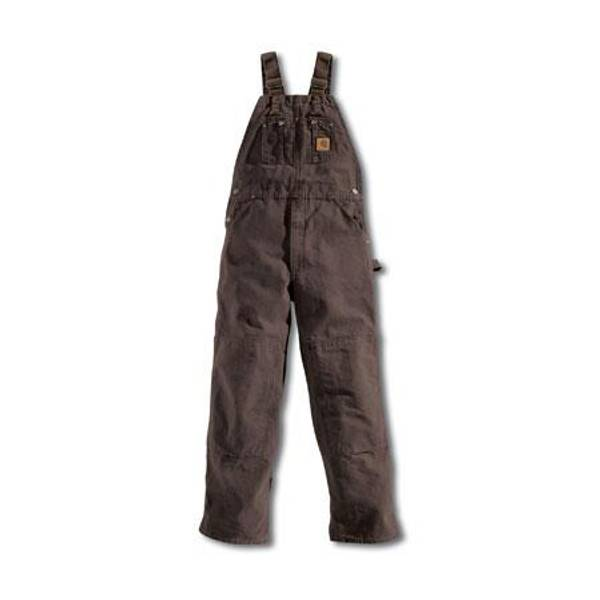 Men's Dark Brown Sandstone Bib Overalls