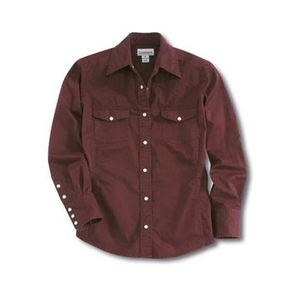 Women's Port Red Work Wash Twill Shirt