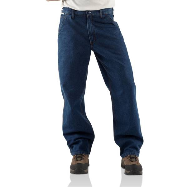 Big Men's Flame - ResisTant Blue Denim Dungarees