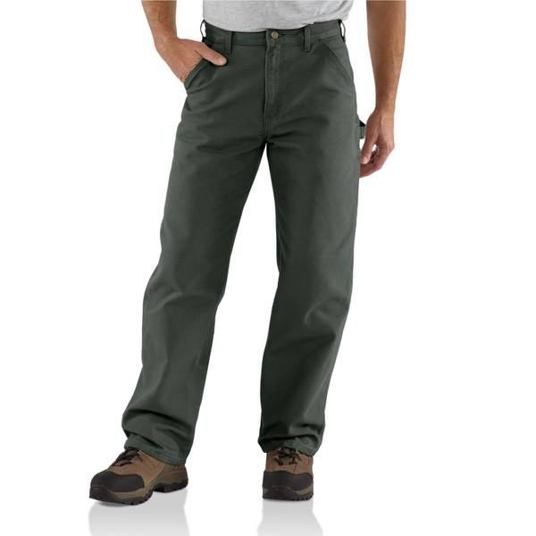 Big Men's Washed Duck Work Moss Dungarees