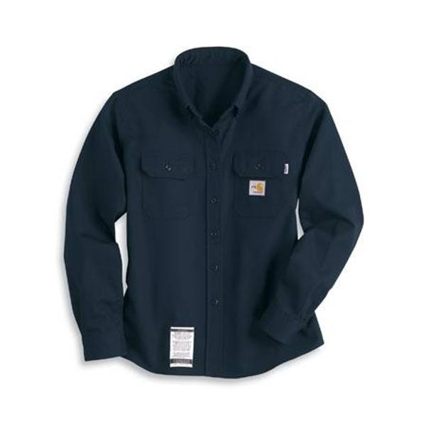 Misses Dark Navy Flame-Resistant Twill Shirt