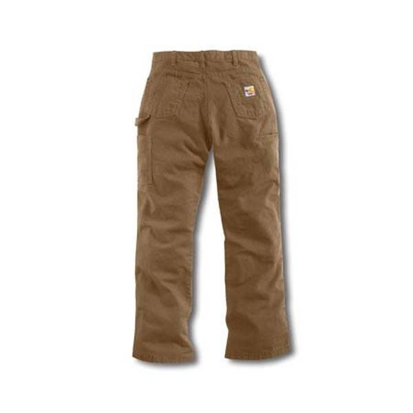 Women's Golden Khaki Flame - Resistant Relaxed Fit Midweight Canvas Jeans
