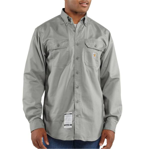 Men's Flame - Resistant Gray Twill Shirt